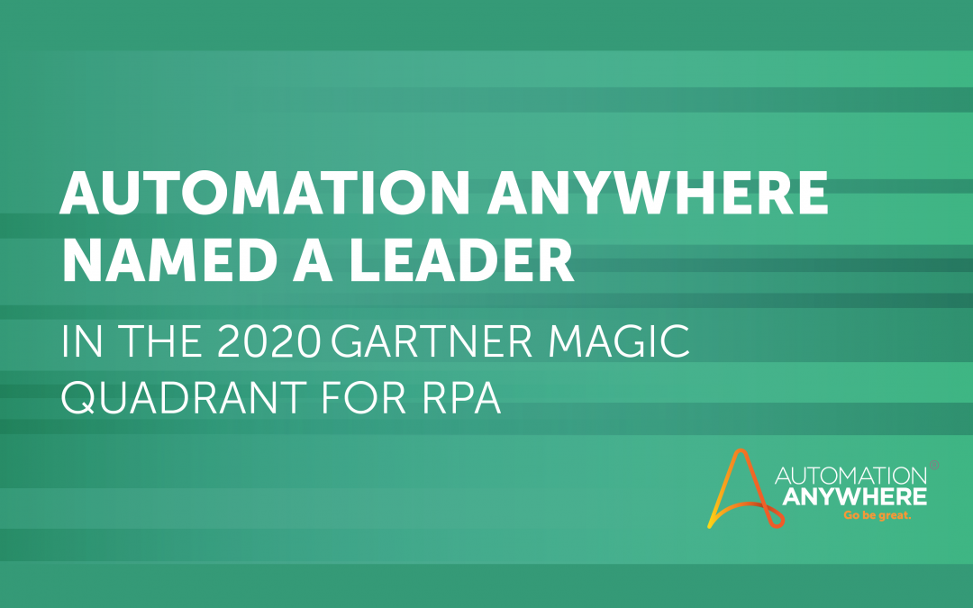 Automation Anywhere: A 2020 Leader for RPA